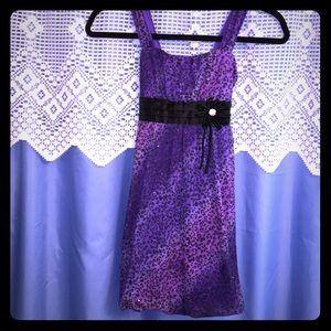 New Amy Byer Purple/Black Dress